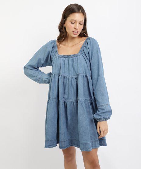 Vestido-Jeans-Feminino-Mindset-Curto-com-Babados-Manga-Longa-Azul-Medio-9962187-Azul_Medio_1