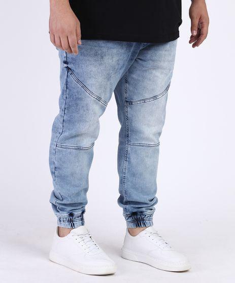 Calca-Jeans-Masculina-Plus-Size-Jogger-Azul-Claro-9965006-Azul_Claro_1