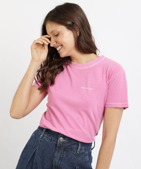 T-Shirt-Feminina-Mindset--My-Own-Muse--Manga-Curta-Decote-Redondo-Rosa-9965366-Rosa_1