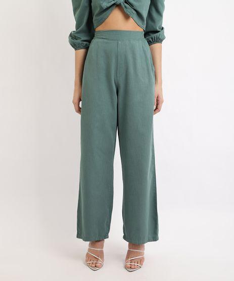 Calca-Feminina-Mindset-Wide-Pantalona-Cintura-Super-Alta-Alfaiatada-Verde-Escuro-9965568-Verde_Escuro_1
