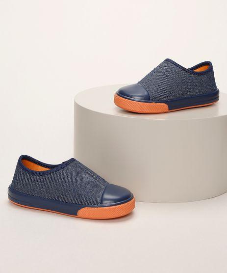 Tenis-Infantil-Pimpolho-Jeans-com-Recorte-e-Velcro-Azul-Marinho-9966088-Azul_Marinho_1
