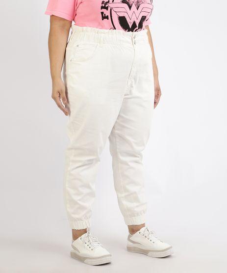 Calca-de-Sarja-Feminina-Plus-Size-Mom-Jogger-Cintura-Super-Alta-Off-White-9966756-Off_White_1
