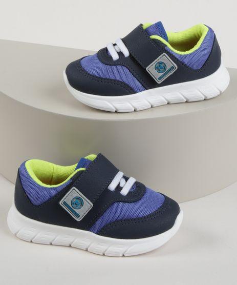 Tenis-Infantil-Molekinho-Esportivo-com-Velcro-e-Elastico-Azul-9965593-Azul_1