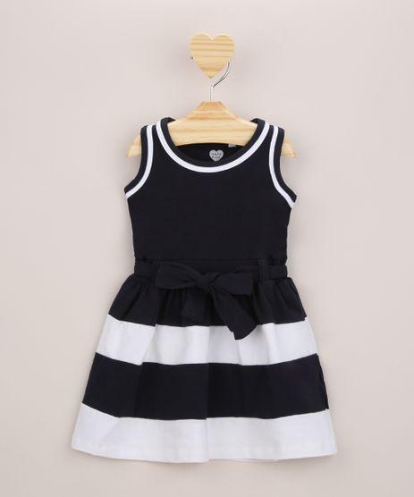 Vestido-Infantil-com-Recortes-e-Laco-Sem-Manga-Azul-Marinho-9953022-Azul_Marinho_1
