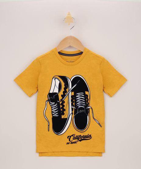 Camiseta-Infantil-Tenis-Flocado-Manga-Curta-Amarela-9955391-Amarelo_1