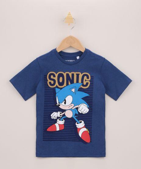 Camiseta-Infantil-Sonic-Manga-Curta-Azul-Escuro-9955394-Azul_Escuro_1