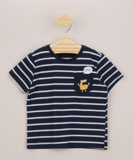 Camiseta-Infantil-Listrada-Carrinhos-com-Bolsinho-de-Monstro-Manga-Curta-Azul-Marinho-9956336-Azul_Marinho_1
