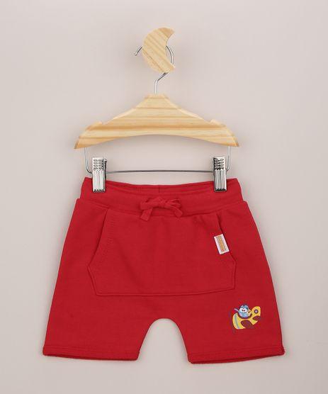 Short-infantil-Galinha-Pintadinha-com-Bolso-Canguru-Vermelho-9956454-Vermelho_1