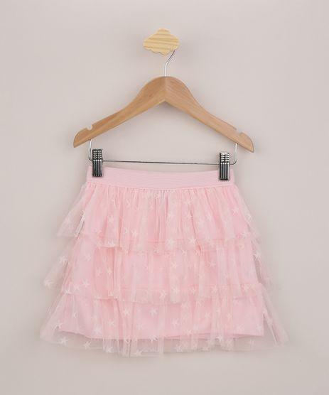 Saia-de-Tule-Infantil-Estampada-de-Estrelas-em-Camadas-Rosa-9957195-Rosa_1