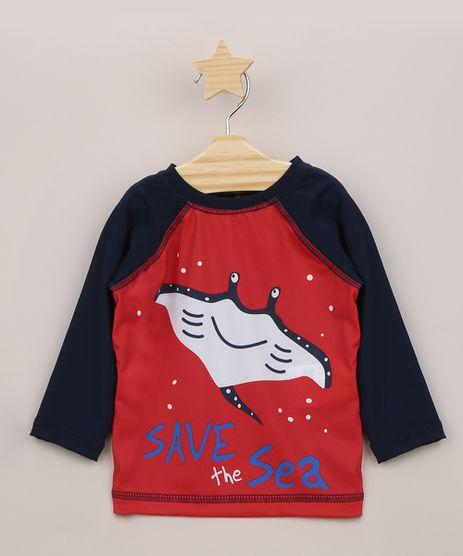 Blusa-de-Praia-Infantil--Save-The-Sea--com-Protecao-UV50--Vermelha-9957686-Vermelho_1