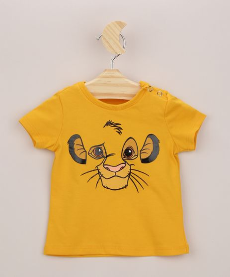 Camiseta-Infantil-Simba-O-Rei-Leao-Manga-Curta-Mostarda-9958273-Mostarda_1