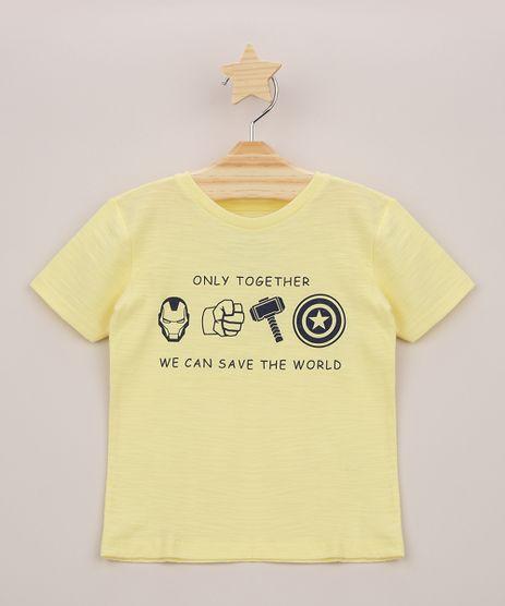 Camiseta-Infantil-Os-Vingadores-Manga-Curta-Amarela-9962234-Amarelo_1