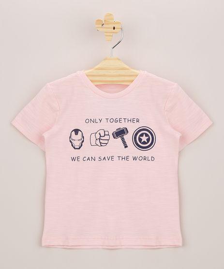 Camiseta-Infantil-Os-Vingadores-Manga-Curta-Rosa-9962235-Rosa_1
