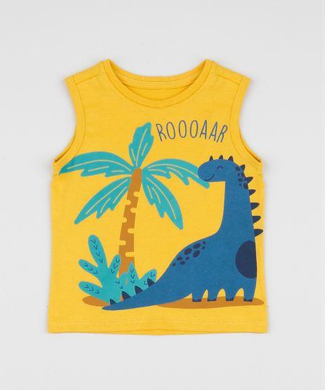 Regata-Infantil-Dinossauros-Gola-Careca-Amarela-9952872-Amarelo_1