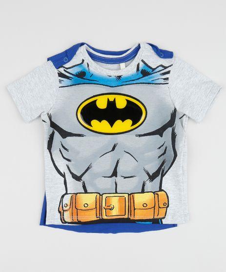 Camiseta-Infantil-Batman-com-Capa-Removivel-Manga-Curta-Gola-Careca-Cinza-Mescla-Claro-9958612-Cinza_Mescla_Claro_1