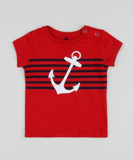 Camiseta-Infantil-Ancora-com-Listras-Manga-Curta-Gola-Careca-Vermelha-9958291-Vermelho_1
