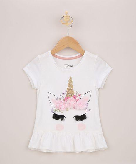 Blusa-Infantil-Unicornio-com-Aplicacoes-e-Babados-Manga-Curta-Off-White-9957968-Off_White_1