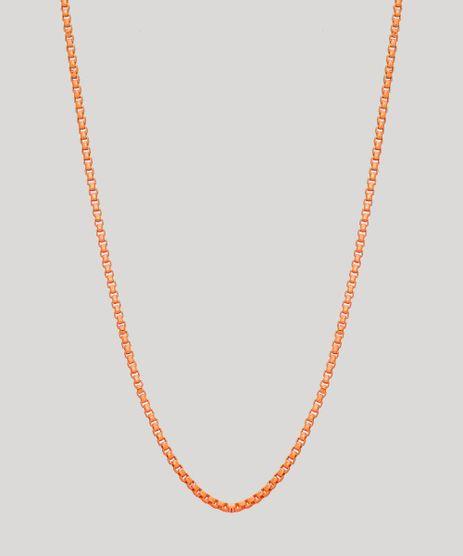 Colar-Feminino-Corrente-Delicado-Laranja-9965889-Laranja_1