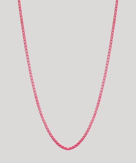 Colar-Feminino-Corrente-Delicado-Rosa-Neon-9965889-Rosa_Neon_1