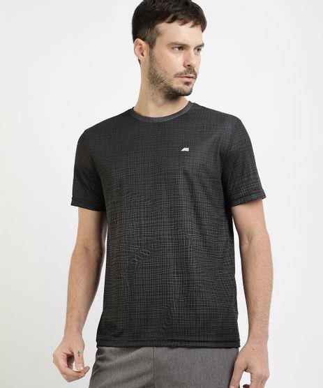 Camiseta-Masculina-Esportiva-Ace-Estampada-Quadriculada-Manga-Curta-Gola-Careca-Preta-9963468-Preto_1