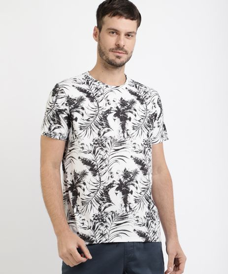 Camiseta-Masculina-Estampada-Floral-Manga-Curta-Gola-Careca-Branca-9950627-Branco_1