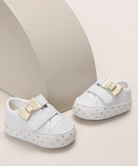 Tenis-Infantil-Pimpolho-Estampado-de-Coracoes-com-Laco-Tiras-e-Velcro-Branco-9966094-Branco_1
