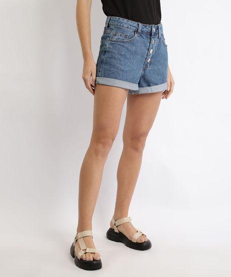 Short-Jeans-Feminino-Mom-Vintage-Cintura-Super-Alta-Barra-Dobrada-Azul-Medio-9930297-Azul_Medio_1