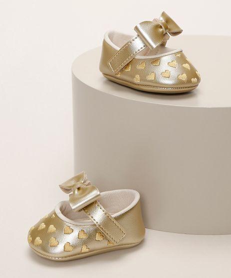 Sapatilha-Infantil-Pimpolho-Metalizada-com-Laco-e-Coracoes-Dourada-9966096-Dourado_1