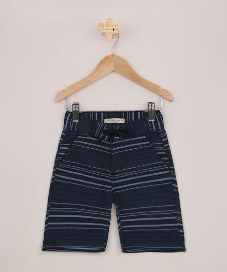 Bermuda-Infantil-de-Sarja-Estampada-Listrada-Azul-Marinho-9953673-Azul_Marinho_1