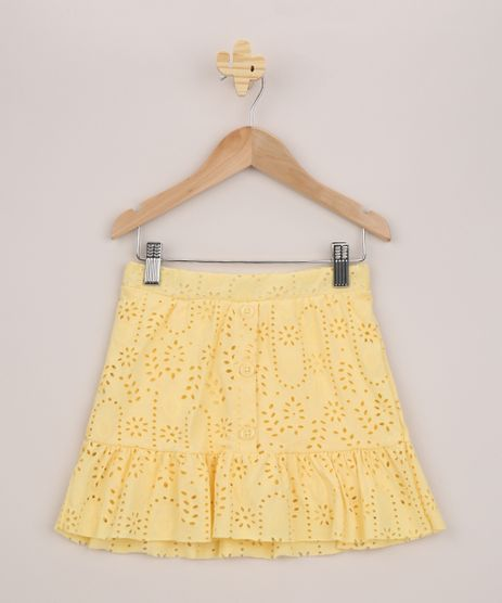 Short-Saia-Infantil-em-Laise-Amarela-9955313-Amarelo_1