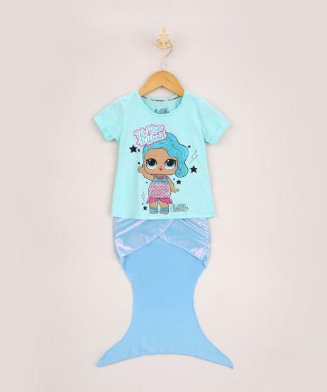 Conjunto-Infantil-Blusa-Lol-Surprise-Manga-Curta---Cauda-de-Sereia-Azul-9957972-Azul_1