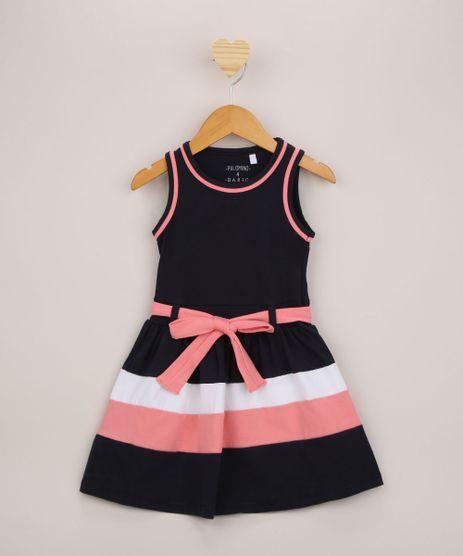 Vestido-Infantil-com-Recortes-e-Laco-Alca-Larga-Azul-Marinho-9953030-Azul_Marinho_1