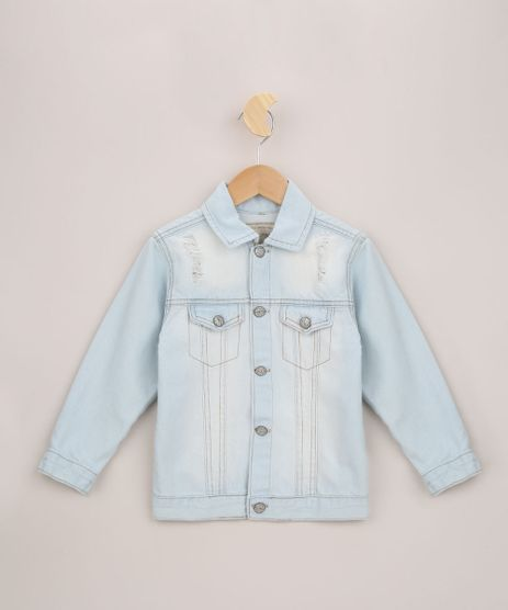 Jaqueta-Jeans-Infantil-com-Rasgos-e-Bolsos-Azul-Claro-9956896-Azul_Claro_1