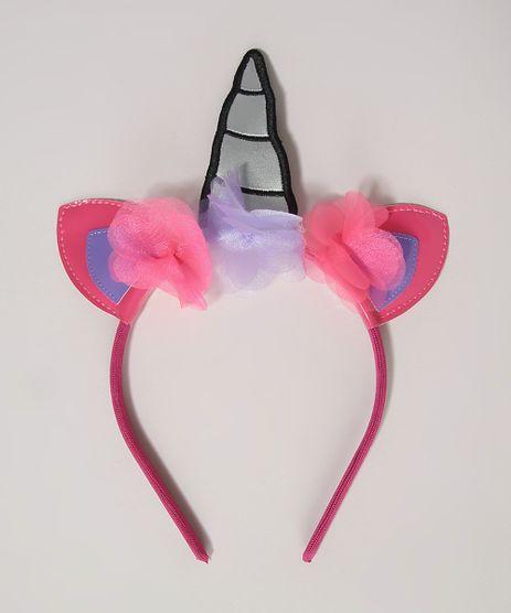Tiara-Infantil-Unicornio-com-Flores-Pink-9963541-Pink_1