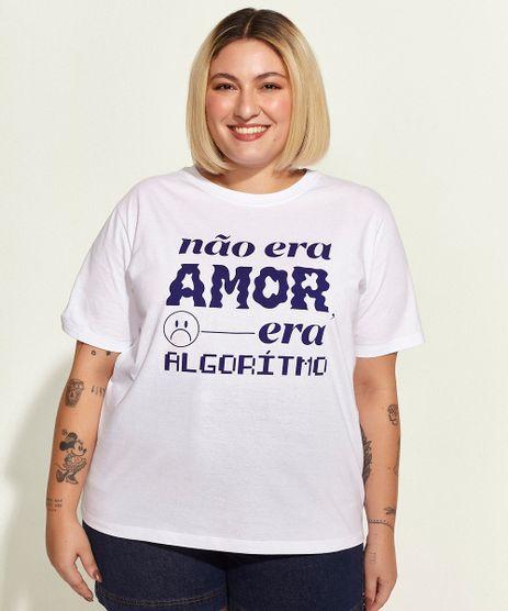 T-Shirt-Feminina-Plus-Size-Mindset-Obvious--Nao-Era-Amor--Manga-Curta-Decote-Redondo-Branca-9969079-Branco_1