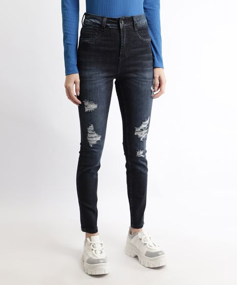 Calca-Jeans-Feminina-Sawary-Cigarrete-Push-Up-Hot-Cintura-Super-Alta-Destroyed-Azul-Escuro-9968998-Azul_Escuro_1