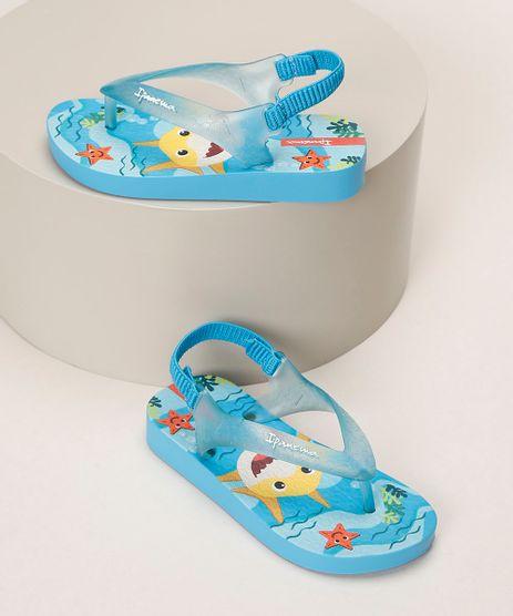Chinelo-Infantil-Ipanema-Baby-Shark-Estampado-com-Elastico-Azul-Claro-9963767-Azul_Claro_1