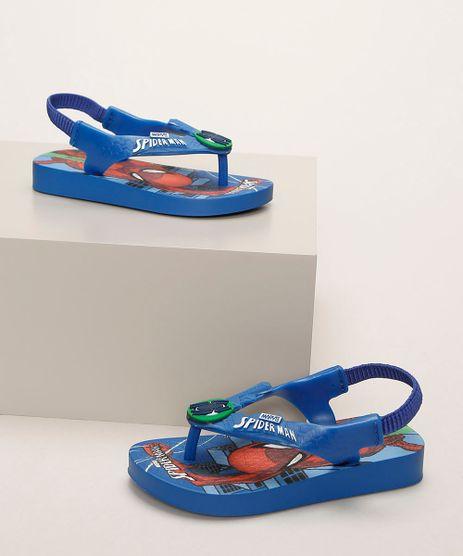Chinelo-Infantil-Ipanema-Homem-Aranha-Estampado-com-Elastico-Azul-9963774-Azul_1