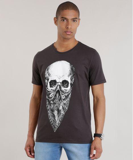 Camiseta--Caveira--Preta-8705260-Preto 1 ... 413585eb1a0