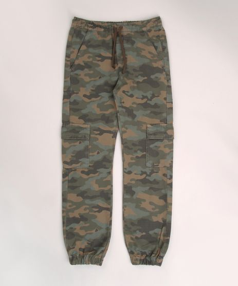 Calca-de-Sarja-Juvenil-Jogger-Cargo-Estampado-Camuflado-Verde-Militar-9953871-Verde_Militar_1