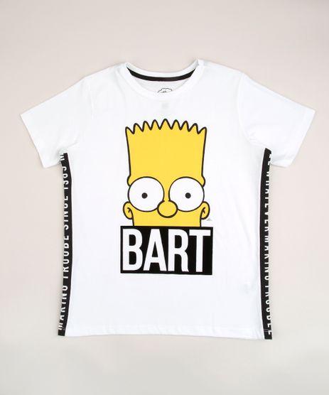 Camiseta-Juvenil-Bart-Os-Simpsons-com-Faixa-Lateral-Manga-Curta-Off-White-9957283-Off_White_1