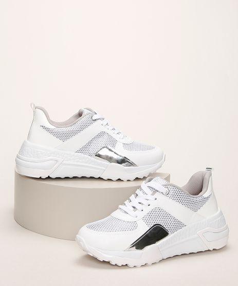 Tenis-Feminino-Vizzano-Chuncky-com-Brilho-e-Recorte-Metalizado-Branco-9960356-Branco_1
