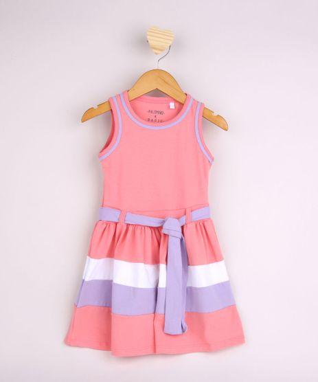 Vestido-Infantil-com-Recortes-e-Tira-para-Amarrar-Alca-Larga-Rosa-9953031-Rosa_1