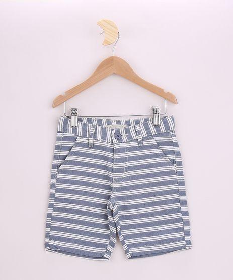 Bermuda-de-Sarja-Infantil-Listrada-Azul-9953672-Azul_1