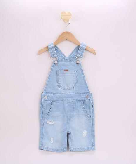 Jardineira-Jeans-Infantil-Destroyed-com-Bolsos-Azul-Claro-9955890-Azul_Claro_1