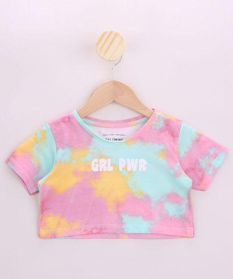 Blusa-Infantil-Cropped--GRL-PWR--Estampada-Tie-Dye-Manga-Curta-Multicor-9956261-Multicor_1