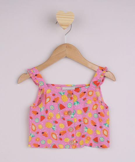Regata-Infantil-Cropped-Estampado-de-Frutas-com-Alca-Media-Rosa-9956787-Rosa_1