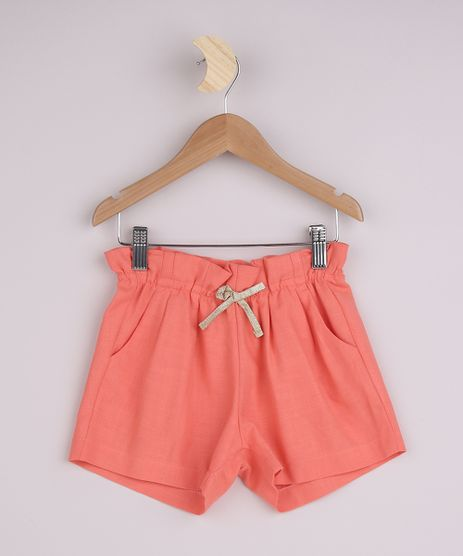 Short-Infantil-com-Cordao-e-Bolsos-Coral-9956788-Coral_1