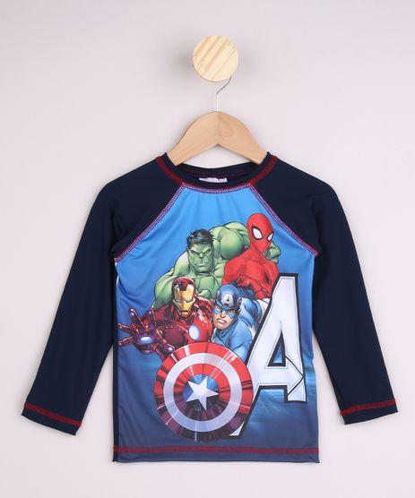 Camiseta-de-Praia-Infantil-Os-Vingadores-Raglan-Manga-Longa-com-Protecao-UV50--Azul-Marinho-9959958-Azul_Marinho_1