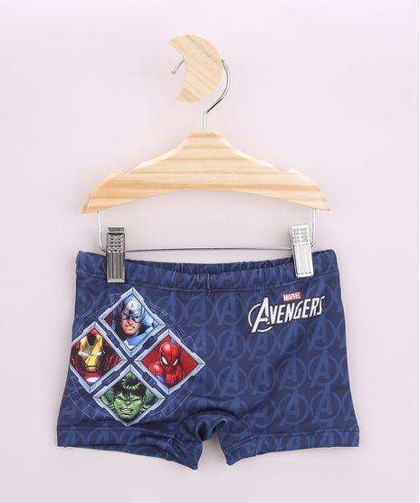 Sunga-Infantil-Boxer-Os-Vingadores-Estampada-com-Protecao-UV50--Azul-Marinho-9959960-Azul_Marinho_1